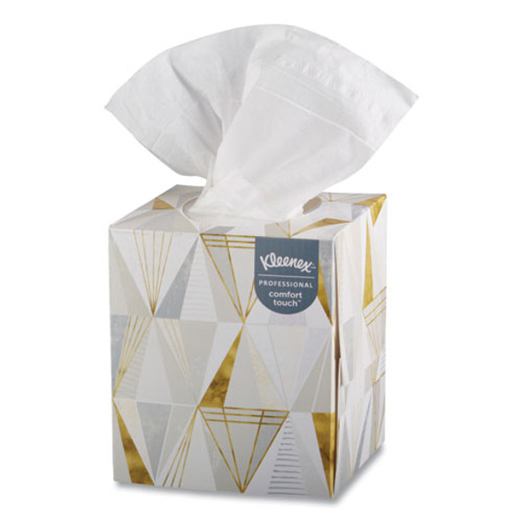 Boutique White Facial Tissue, 2-ply, Pop-up Box, 95 Sheets/box, 3 Boxes/pack, 12 Packs/carton