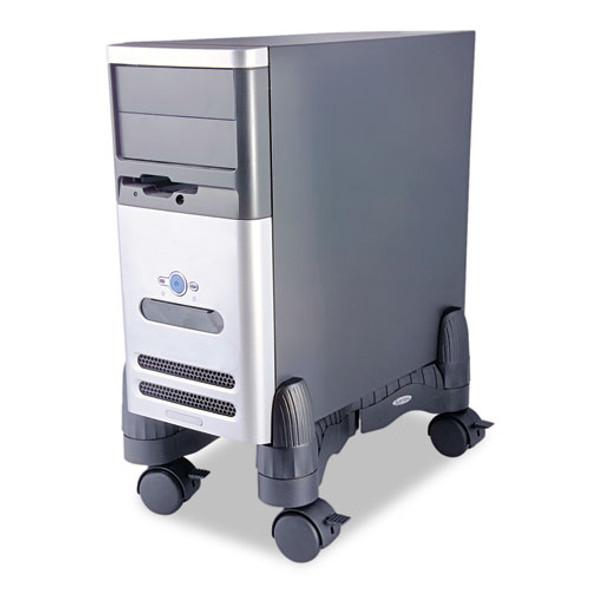 Mobile Cpu Stand, 4.5w X 16d X 7h, Black