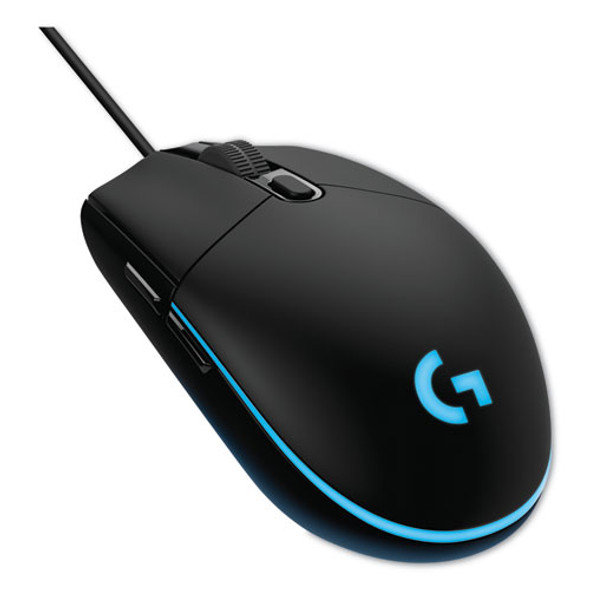 G203 Prodigy Gaming Mouse, Usb 2.0, Right Hand Use, Black