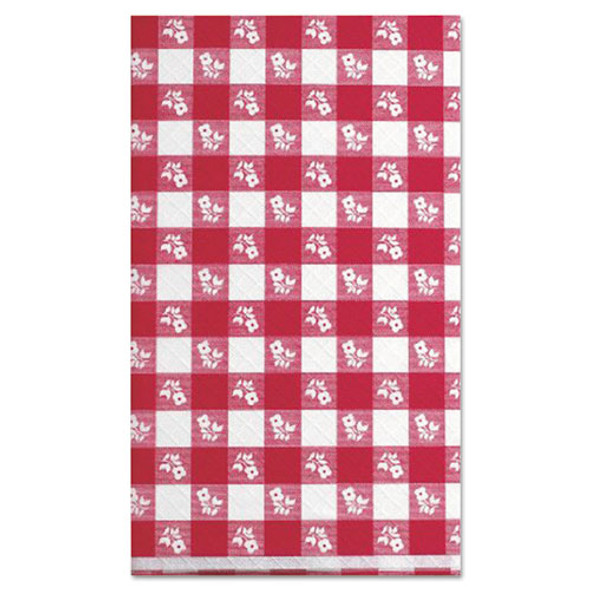 """Paper Table Cover, 40"""" X 300ft, Red Gingham"""