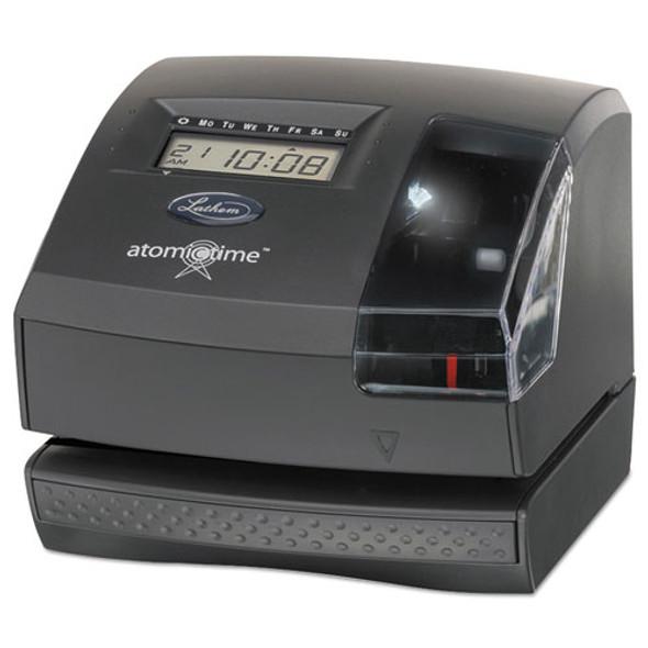 1600e Wireless Atomic Time Recorder With Tru-align Feature, Dark Gray