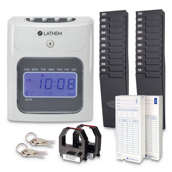 400e Top-feed Time Clock Bundle, White