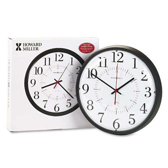 "Alton Auto Daylight Savings Wall Clock, 14"" Overall Diameter, Black Case, 1 Aa (sold Separately)"