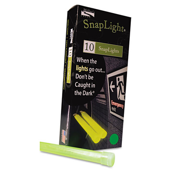 """Snaplights, 6""""l X 3/4""""w, Green, 10/box"""