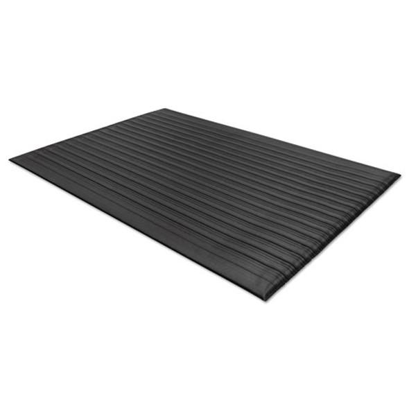 Air Step Antifatigue Mat, Polypropylene, 24 X 36, Black