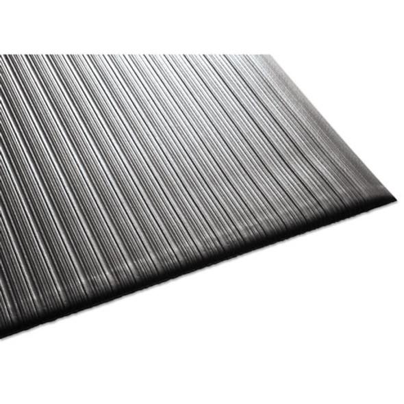Air Step Antifatigue Mat, Polypropylene, 36 X 144, Black