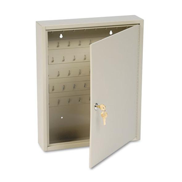 Dupli-key Two-tag Cabinet, 60-key, Welded Steel, Sand, 14 X 3 1/8 X 17 1/2