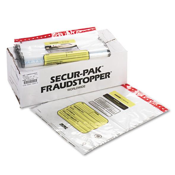 12 Bundle Capacity Tamper-evident Cash Bags, 20 X 24, Clear, 250 Bags/box