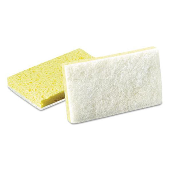 Light-duty Scrubbing Sponge, #63, 3.5 X 5.63, Yellow/white, 20/carton