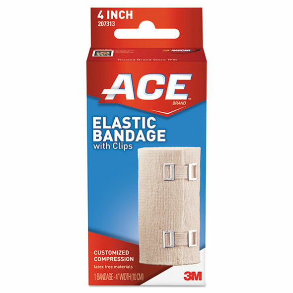 "Elastic Bandage With E-z Clips, 4"" X 64"""