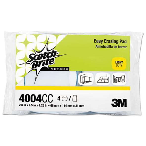 Easy Erasing Pad 4004, 2 4/5 X 4 1/2 X 1 1/5, Blue/white, 4 Per Pack