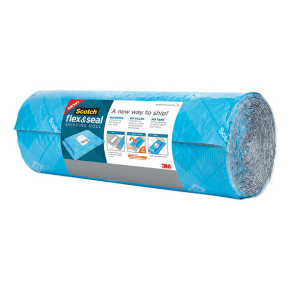"""Flex And Seal Shipping Roll, 15"""" X 20 Ft, Blue/gray"""