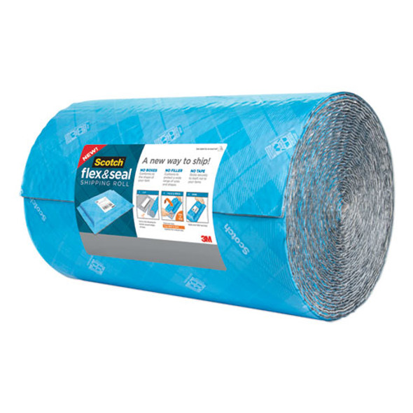 """Flex And Seal Shipping Roll, 15"""" X 50 Ft, Blue/gray"""