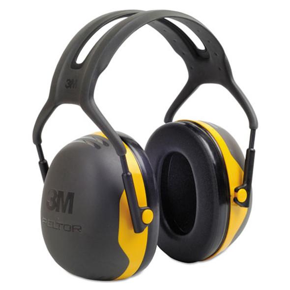 Peltor X2 Earmuffs, 24 Db, Yellow/black