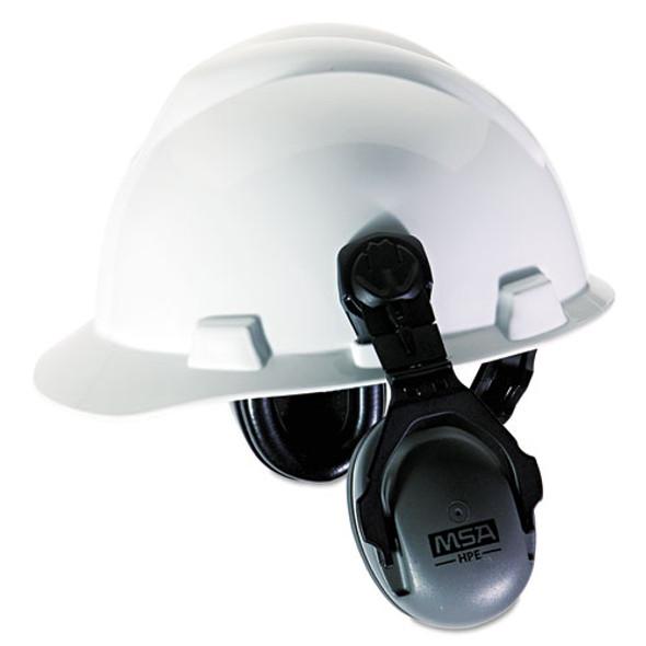 Hpe Cap-mounted Earmuffs, 27nrr, Gray/black