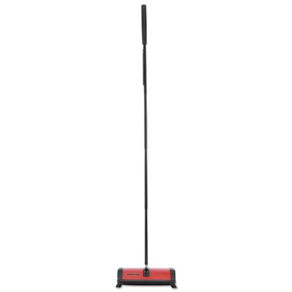 Hoky Wet/dry Floor Sweeper, Red, 9 1/2 X 8 X 43 1/2