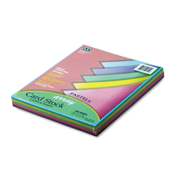 Array Card Stock, 65lb, 8.5 X 11, Assorted Pastel Colors, 100/pack