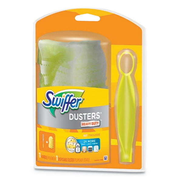 Heavy Duty Duster Starter Kit, Handle With One Disposable Duster
