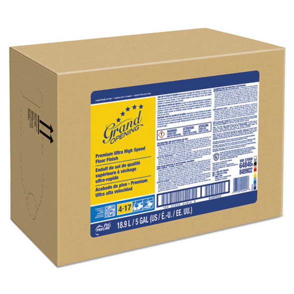 #17 Grand Opening Ultra High Speed Floor Finish, 5 Gallon Bag-in-box