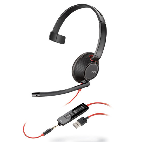Blackwire 5210, Monaural, Over The Head Headset