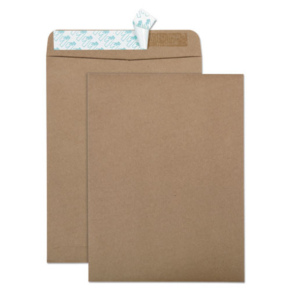 100% Recycled Brown Kraft Redi-strip Envelope, #10 1/2, Cheese Blade Flap, Redi-strip Closure, 9 X 12, Brown Kraft, 100/box