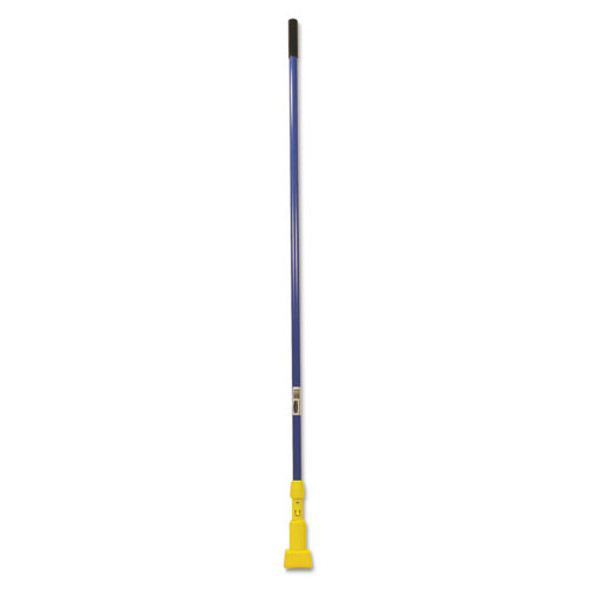 """Gripper Fiberglass Mop Handle, 60"""", Blue/yellow"""