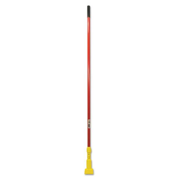 """Gripper Fiberglass Mop Handle, 60"""", Red/yellow"""