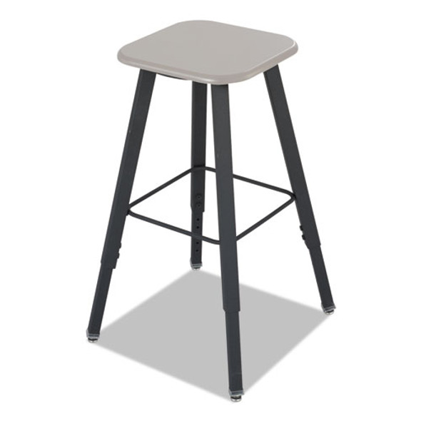 Alphabetter Adjustable-height Student Stool, Supports Up To 250 Lbs., Black Seat/black Back, Black Base