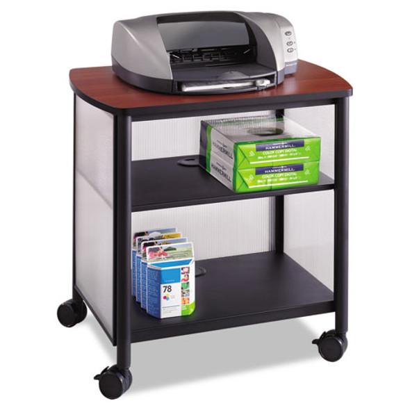 Impromptu Machine Stand, One-shelf, 26.25w X 21d X 26.5h, Black/cherry