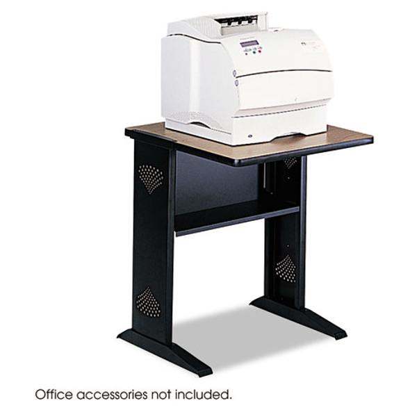 Fax/printer Stand W/reversible Top, 23.5w X 28d X 30h, Medium Oak/black