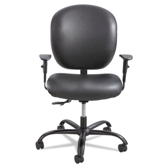 Alday Intensive-use Chair, Supports Up To 500 Lbs., Black Seat/black Back, Black Base