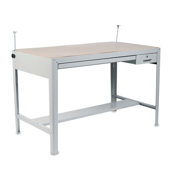 Precision Four-post Drafting Table Base, 56-1/2w X 30-1/2d X 35-1/2h, Gray