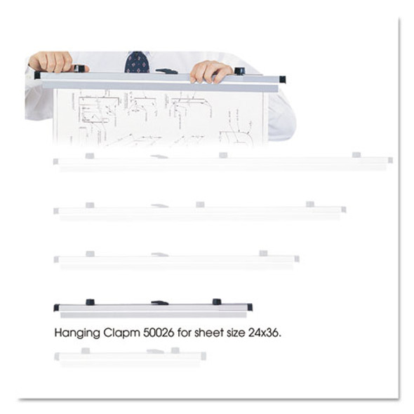 Sheet File Hanging Clamps, 100 Sheets Per Clamp, 25.25w, 6/carton