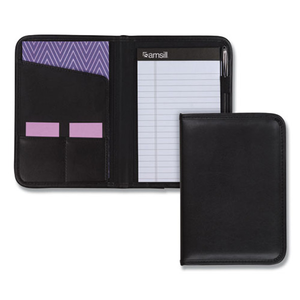Professional Padfolio, 3/4w X 9 1/4h, Open Style, Black