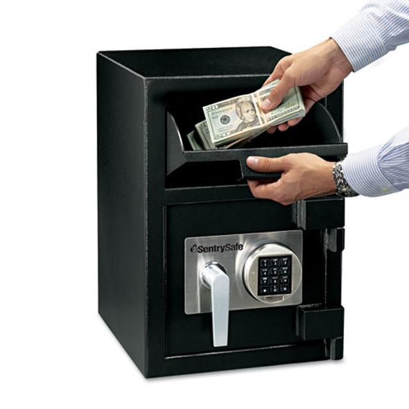 Digital Depository Safe, Large, 0.94 Cu Ft, 14w X 15.6d X 20h, Black