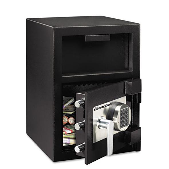 Digital Depository Safe, Extra Large, 1.3 Cu Ft, 14w X 15.6d X 24h, Black