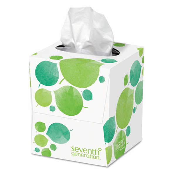 100% Recycled Facial Tissue, 2-ply, White, 85 Sheets/box