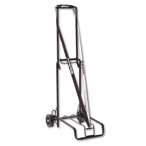 Luggage Cart, 125 Lb Capacity, 13 X 10 Platform, Black Steel