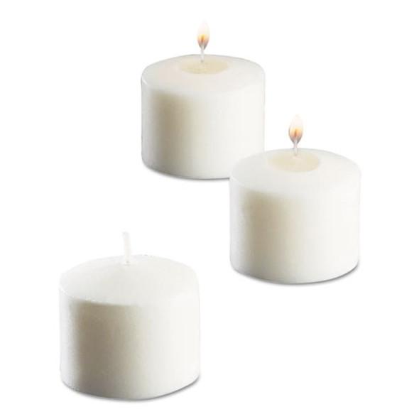 "Food Warmer Votive Candles, 10 Hour Burn, 1.46""d X 1.33'h, White, 288/carton"
