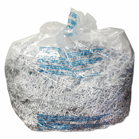 Plastic Shredder Bags, 13-19 Gal Capacity, 25/box