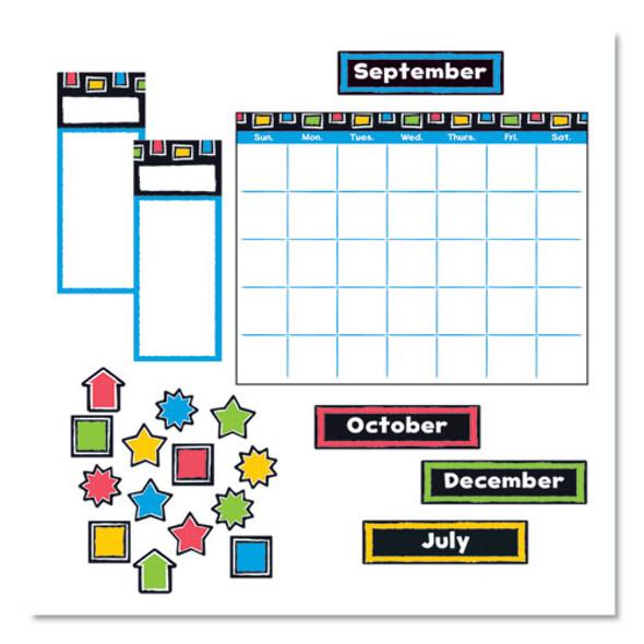 "Bold Strokes Wipe-off Calendar Bulletin Board Set, Assorted, 18"" X 26.5"""
