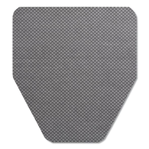Komodo Urinal Mat, 18 X 20, Gray, 6/carton