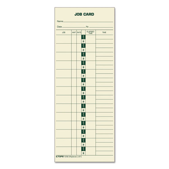 Job Card For Cincinnati/lathem/simplex, 1 Side, 3 1/2 X 9, 500/box