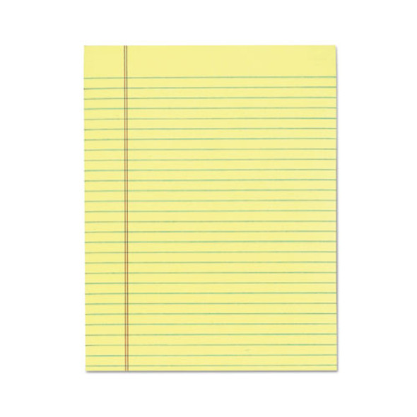 """""""the Legal Pad"""" Glue Top Pads, Wide/legal Rule, 8.5 X 11, Canary, 50 Sheets, 12/pack"""