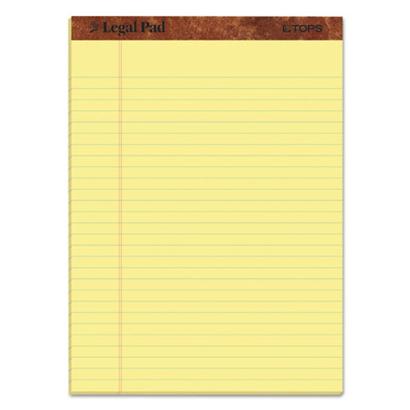 """""""the Legal Pad"""" Perforated Pads, Wide/legal Rule, 8.5 X 11, Canary, 50 Sheets, 3/pack"""
