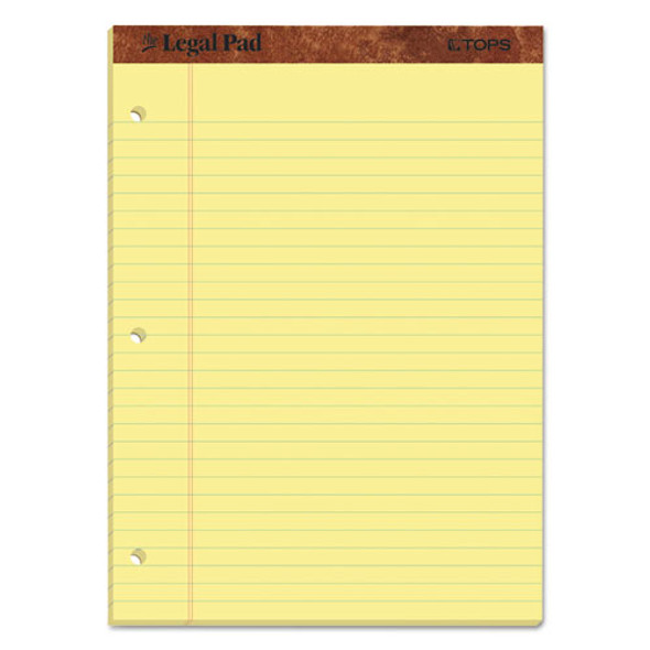 """""""the Legal Pad"""" Ruled Pads, Wide/legal Rule, 11.75 X 8.5, Canary, 50 Sheets, Dozen"""