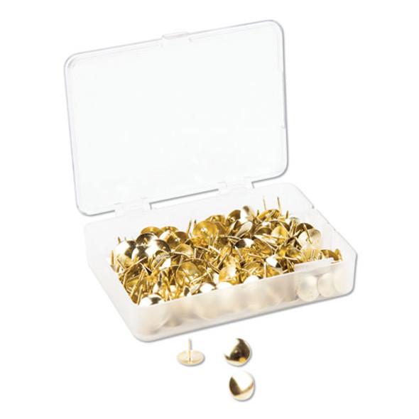 """Fashion Metal Thumbtacks, Metal, Gold, 3/8"""", 200/pack"""