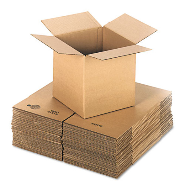 """Cubed Fixed-depth Shipping Boxes, Regular Slotted Container (rsc), 12"""" X 12"""" X 12"""", Brown Kraft, 25/bundle"""