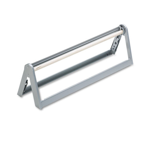 """Paper Roll Cutter For Rolls Up To 9"""" In Diameter, 24"""" Wide, Steel, Light Gray"""