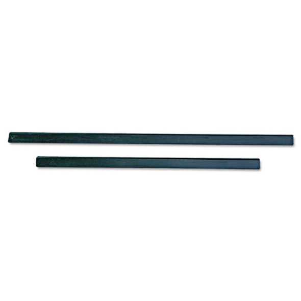 """Ergotec Replacement Squeegee Blades, 12"""" Wide, Black Rubber, Soft, 12/pack"""